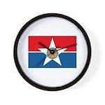 Dallas Flag Wall Clock
