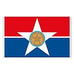 Dallas Flag Rectangle Sticker