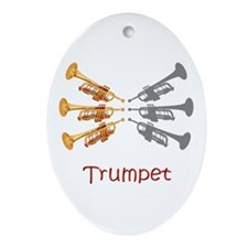 Trumpet Trio Oval Ornament