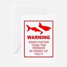 Shark Warning Greeting Card