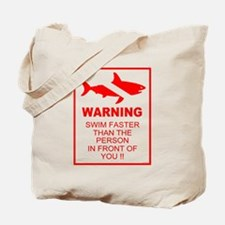 Shark Warning Tote Bag