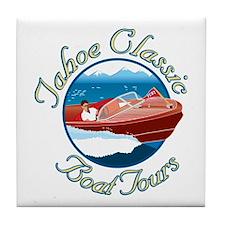 Tahoe Classic Boat Tours Tile Coaster