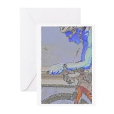 ON THE AERO-BARS PAINTING Greeting Cards (Pk of 20