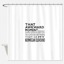 wkward Norwegian Elkhound Dog Desig Shower Curtain