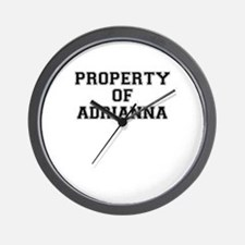 Property of ADRIANNA Wall Clock