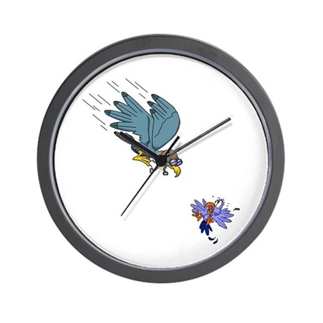 Falcon with goggles Wall Clock