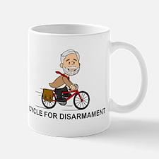 Corbyn Cycle For Disarmament Mugs