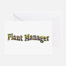 Pansy Plant Manager Greeting Card
