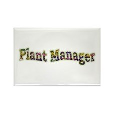 Pansy Plant Manager Rectangle Magnet