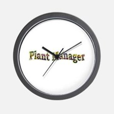 Pansy Plant Manager Wall Clock