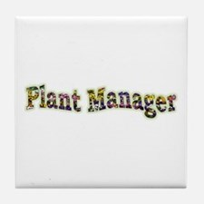 Pansy Plant Manager Tile Coaster
