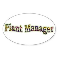 Pansy Plant Manager Oval Decal