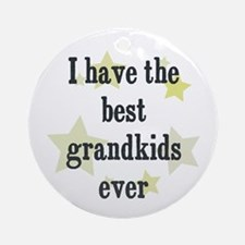I have the best grandkids eve Ornament (Round)