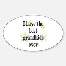 I have the best grandkids eve Oval Decal