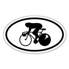 Bike Racer Oval Decal