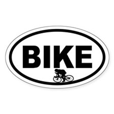 Cycling Racer Oval Decal