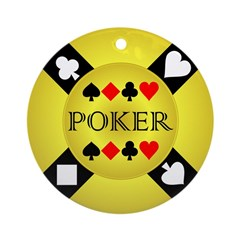 Gold Poker Chip Ornament (Round)