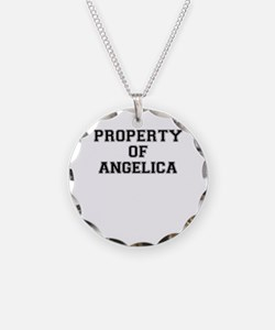 Property of ANGELICA Necklace Circle Charm
