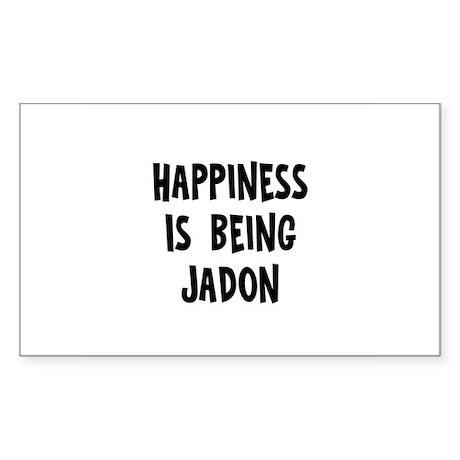 Happiness is being Jadon Rectangle Sticker