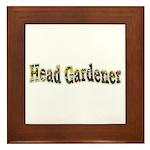 Head Gardener Framed Tile