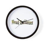 Head Gardener Wall Clock