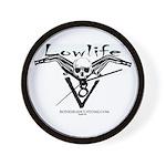 LOWLIFE v8 skull Wall Clock