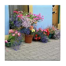 Helaine's Irish Flowers Tile Coaster
