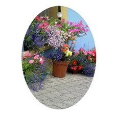Helaine's Irish Flowers Oval Ornament