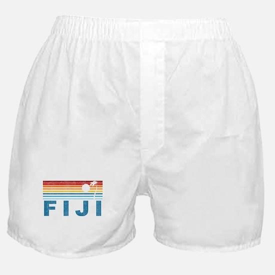 Retro Fiji Palm Tree Boxer Shorts