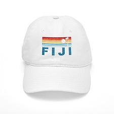 Retro Fiji Palm Tree Baseball Cap