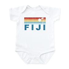 Retro Fiji Palm Tree Infant Bodysuit