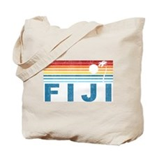 Retro Fiji Palm Tree Tote Bag