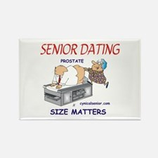 Prostate size matters-dating Rectangle Magnet