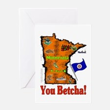 MN-Betcha! Greeting Card
