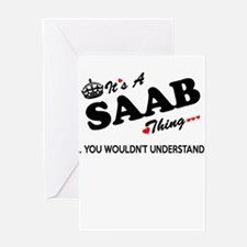 SAAB thing, you wouldn't understand Greeting Cards