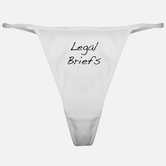 Legal Briefs Classic Thong