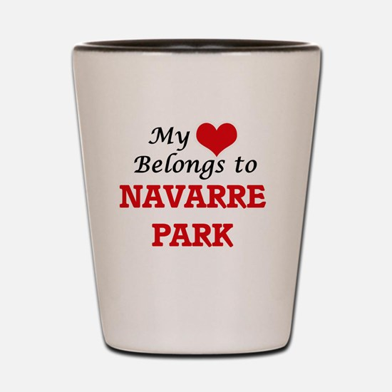 My Heart Belongs to Navarre Park Florid Shot Glass