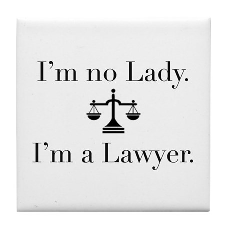 Lady Lawyer Tile Coaster