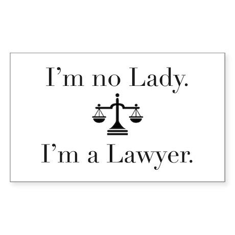 Lady Lawyer Rectangle Sticker