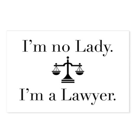 Lady Lawyer Postcards (Package of 8)