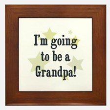 I'm going to be a Grandpa! Framed Tile