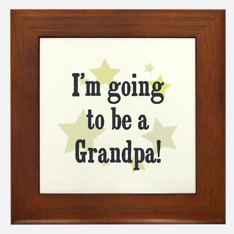 I'm going to be a Grandpa! Framed Tile