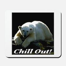 Chill Out Polar Bear Mousepad