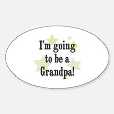 I'm going to be a Grandpa! Oval Decal