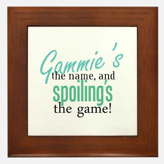 Gammie's the Name, and Spoiling's the Game! Framed