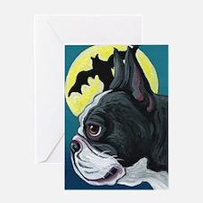 Halloween Bat Dog French Bulldog Greeting Cards