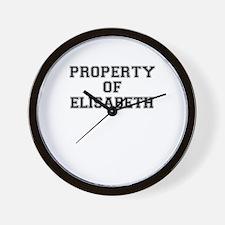 Property of ELISABETH Wall Clock