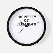 Property of ELIZABETH Wall Clock
