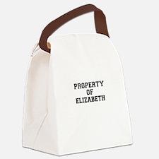 Property of ELIZABETH Canvas Lunch Bag