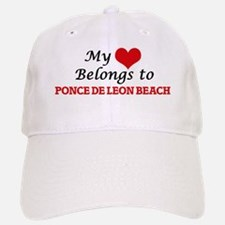 My Heart Belongs to Ponce De Leon Beach Florid Baseball Baseball Cap